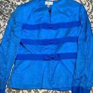 100% Silk Blue Blazer